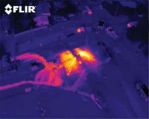 FLIR IR structure fire see thru smoke 300x240 - Drone Inspection Service