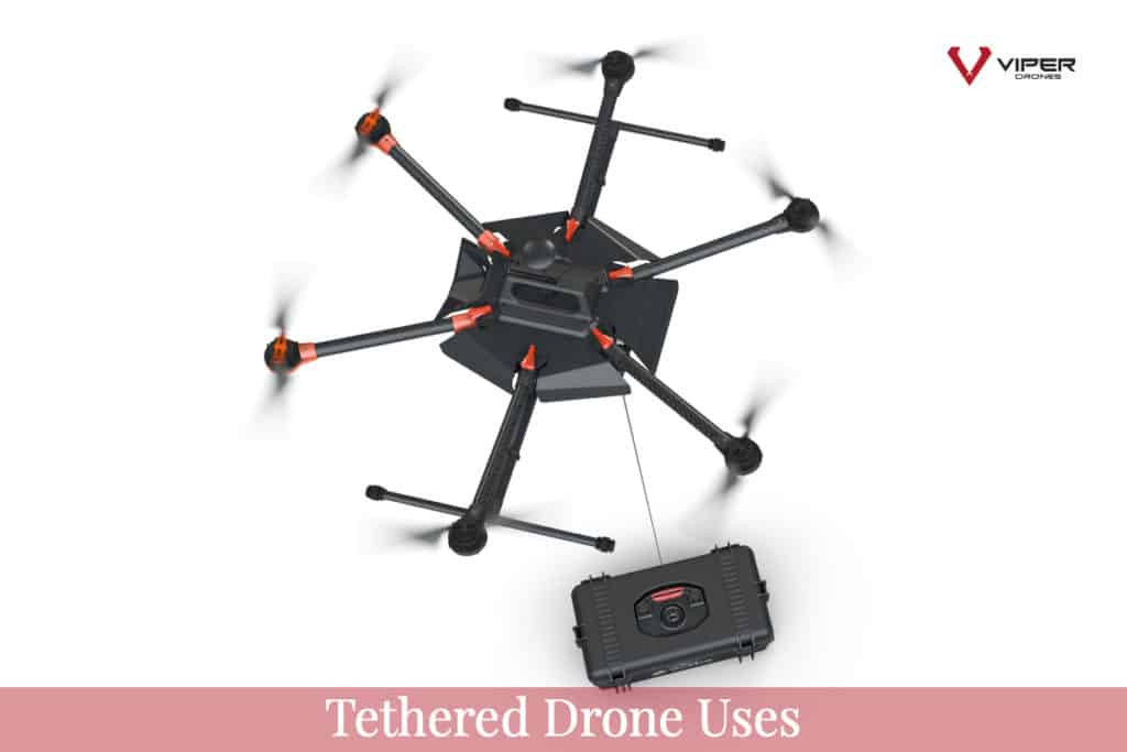 Tethered Drone uses
